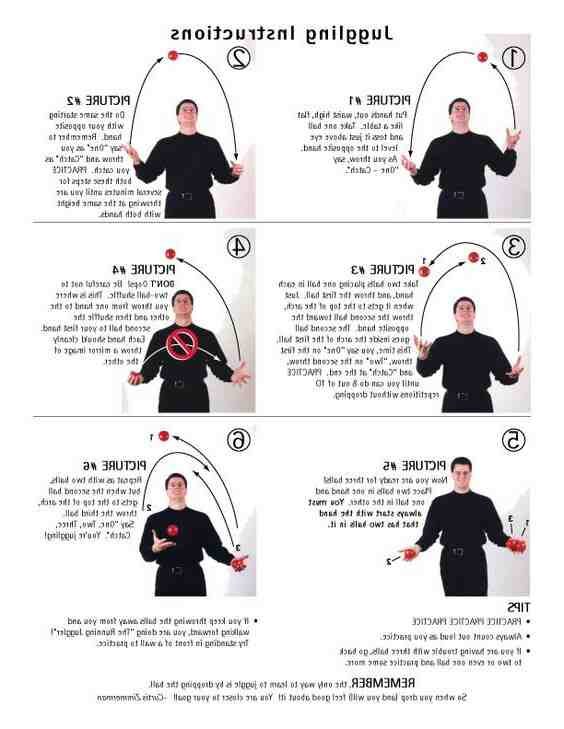 Comment jongler avec 3 balles